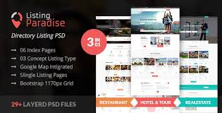 web templates website templates directory listing website theme directory templates from themeforest
