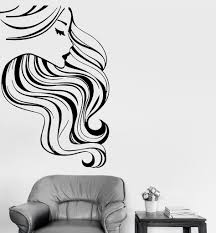 wall stickers vinyl decal hot sexy pretty woman girl beauty hair wall stickers vinyl decal hot sexy pretty woman girl beauty hair salon ig1706