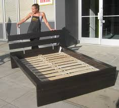 How To Build A Platform Bed King Size by Plain Platform Beds Ikea Bed Frame King Size House Photo Gallery