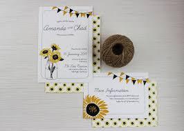 Wedding Invitation Information Card Sunnyflowers Sunflower Wedding Invitations Be My Guest
