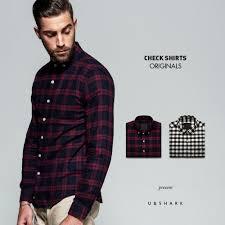 Flannel Shirts U Shark 2017 New Mens Cotton Flannel Shirts Black Plaid Shirt