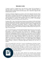 samples of cover letter motivation letter personal motivation