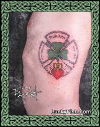 fireman u0027s family claddagh tattoo design u2014 luckyfish inc and