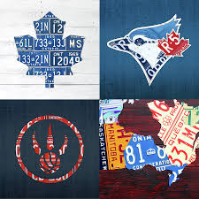 License Plate Map Toronto Sports Team License Plate Art Ontario Map Blue Jays Maple