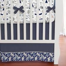 navy fox crib bedding carousel designs