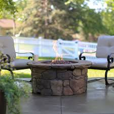Gas Fire Pit Table Sets - fire pits design awesome round gas fire pit table chairs garden