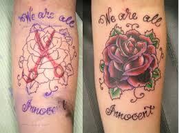 rose coverup tattoo picture