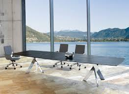 contemporary modern executive wood chrome table ambience doré