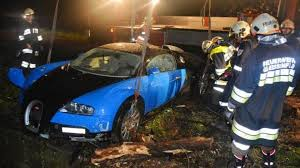 bugatti crash bugatti veyron driver loses control flies off the highway