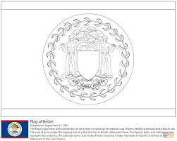 flag of belize coloring page free printable coloring pages
