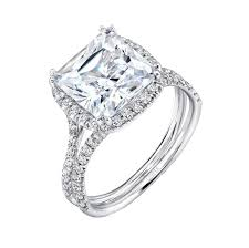 cushion diamond ring uneek 3 carat cushion cut diamond halo engagement ring with pave