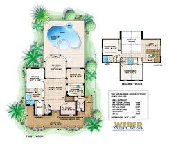 amazing house plans with a pool alexandria cottage house plan