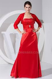 4 sleeve strapless a line floor length mother of the bride dresses