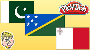 Matla Flag Play Doh Flags Pakistan Solomon Islands And Malta Ewmj 260