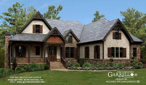houses with big garages big mountain lodge a house plan house plans by garrell