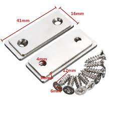 Magnetic Catches For Kitchen Cabinets 2pcs Magnetic Catch Latch Ultra Thin For Glass Door Furniture