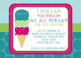 Design Your Own Invitations Ice Cream Party Invitations Theruntime Com