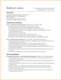 Resume Expected Graduation by Resume Examples Expected Graduation Date