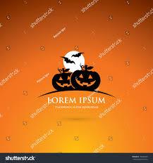 halloween illustrations halloween label pumpkins vector illustration stock vector