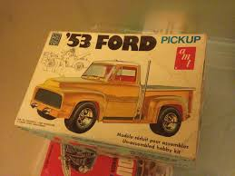 Old Ford Truck Kit Car - amt 1953 ford pickup vintage kit model car with original box and