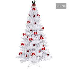 oz crazy mall 2 1m christmas tree with decorations white