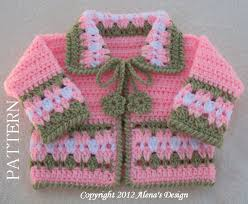 crochet sweater pattern 045 blossom baby jacket in four