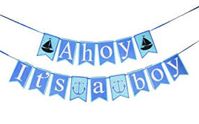 it s a boy baby shower its a boy banner ahoy it s a boy baby shower banner