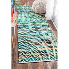 Chevron Runner Rug Nuloom Handmade Flatweave Stiped Chevron Cotton Green Runner Rug