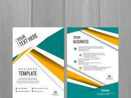 minimalist modern business flyer brochure template free vectors