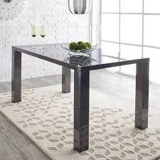 White Lacquer Dining Table by Euro Style Abby 63 Dining Table Hayneedle