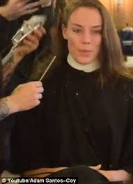 forced female haircuts on men elliott sailors the moment when a female model takes the plunge
