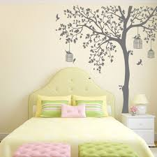 Nursery Wall Decal Bird Cage Tree Nursery Wall Stickers Removable Vinyl Wall Decal