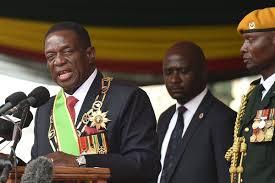 swears in president emmerson mnangagwa transfer of