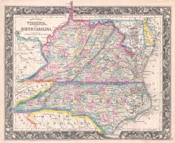 West Virginia Road Map by Along North Carolina Virginia Border A Tiny Turn In The Map And A