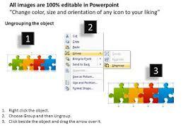 puzzle pieces process flow chart powerpoint templates powerpoint