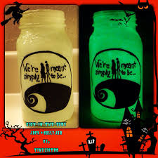 fabulous glow in the dark nightmare before christmas jars 2014