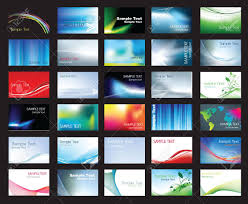 coloured templates illustration of large set of coloured business card templates