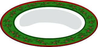 christmas plate clipart christmas plate