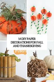 decorations for thanksgiving 14 diy paper decorations for fall and thanksgiving shelterness
