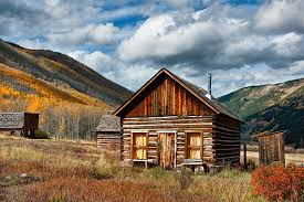 Colorado travel log images Southwest colorado color miner log cabin ashcroft ghost town jpg