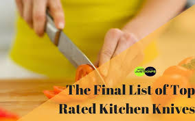 the final list of top rated kitchen knives for the partie de chef