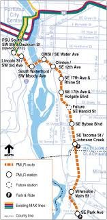 portland light rail map new line south east to milwaukee tri met max line pinterest