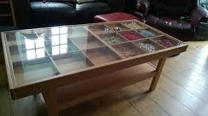 Ikea Beech Coffee Table Ikea Display Coffee Table Beech Wood With Glass Top In Jericho