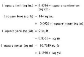 units of area measurement