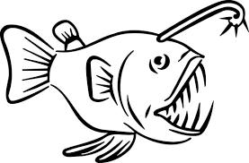 angler fish carnivore fish colouring happy colouring