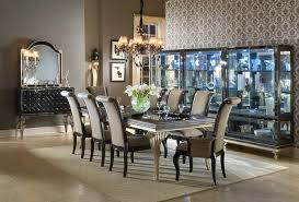 Michael Amini Dining Room Set Hollywood Swank Dining Table In Black Silver Finish By Aico Aico