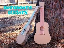 artikel membuat gitar crafts from cardboard used guitar making toys