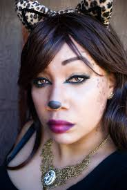 Make Up For Halloween Glamour Kitty Leopard Halloween Makeup Tutorial Easy And