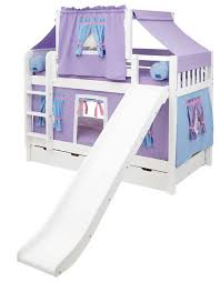 Bunk Bed Slide Maxtrix Low Bunk Bed W Ladder Curtain Slide Top Tent