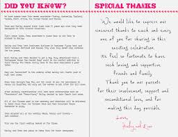 thank yous on wedding programs wedding thank you card wording hd images did you in
